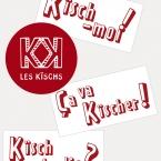 Les Kischs, stickers. Graphisme © Timor Rocks