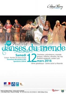15e festival des danses du monde, affiche
